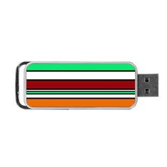 Green, Orange And Yellow Lines Portable Usb Flash (one Side) by Valentinaart