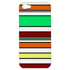 Green, Orange And Yellow Lines Apple Iphone 5 Hardshell Case by Valentinaart