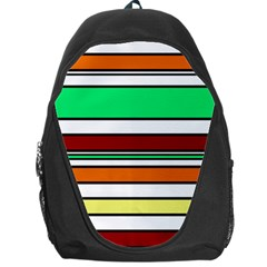 Green, Orange And Yellow Lines Backpack Bag by Valentinaart