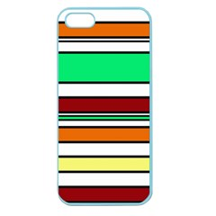 Green, Orange And Yellow Lines Apple Seamless Iphone 5 Case (color) by Valentinaart