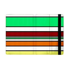 Green, Orange And Yellow Lines Apple Ipad Mini Flip Case by Valentinaart