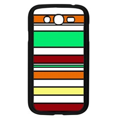 Green, Orange And Yellow Lines Samsung Galaxy Grand Duos I9082 Case (black) by Valentinaart
