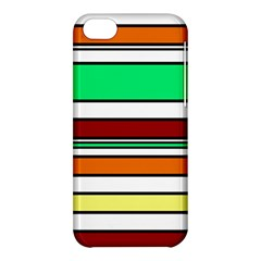 Green, Orange And Yellow Lines Apple Iphone 5c Hardshell Case by Valentinaart