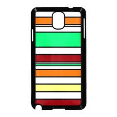Green, Orange And Yellow Lines Samsung Galaxy Note 3 Neo Hardshell Case (black) by Valentinaart