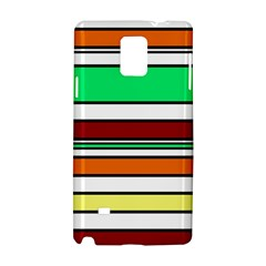 Green, Orange And Yellow Lines Samsung Galaxy Note 4 Hardshell Case by Valentinaart