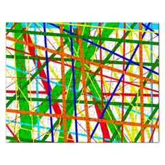 Colorful Lines Rectangular Jigsaw Puzzl by Valentinaart
