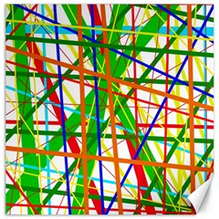 Colorful Lines Canvas 12  X 12   by Valentinaart