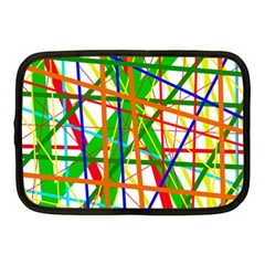 Colorful Lines Netbook Case (medium)  by Valentinaart