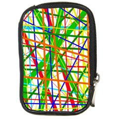 Colorful Lines Compact Camera Cases by Valentinaart