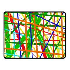 Colorful Lines Fleece Blanket (small) by Valentinaart