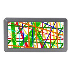 Colorful Lines Memory Card Reader (mini) by Valentinaart