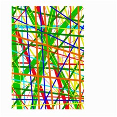 Colorful Lines Large Garden Flag (two Sides) by Valentinaart