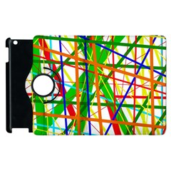 Colorful Lines Apple Ipad 3/4 Flip 360 Case by Valentinaart