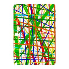 Colorful Lines Samsung Galaxy Tab Pro 12 2 Hardshell Case by Valentinaart