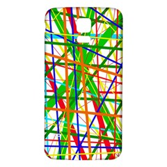 Colorful Lines Samsung Galaxy S5 Back Case (white) by Valentinaart