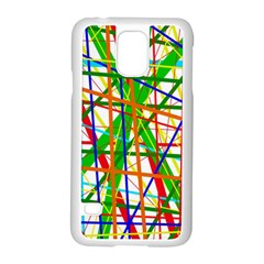 Colorful Lines Samsung Galaxy S5 Case (white) by Valentinaart