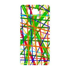 Colorful Lines Samsung Galaxy Alpha Hardshell Back Case by Valentinaart