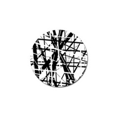 Black And White Abstract Design Golf Ball Marker (10 Pack)