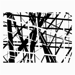 Black And White Abstract Design Collage Prints by Valentinaart