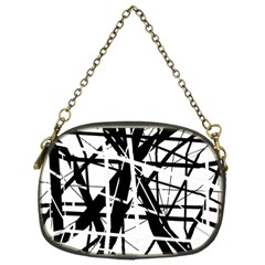 Black And White Abstract Design Chain Purses (two Sides)  by Valentinaart