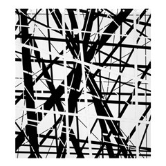 Black And White Abstract Design Shower Curtain 66  X 72  (large)  by Valentinaart