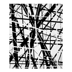 Black And White Abstract Design Shower Curtain 60  X 72  (medium)  by Valentinaart