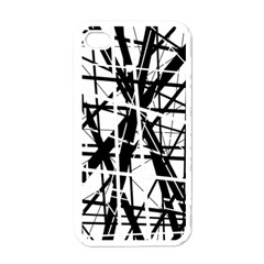 Black And White Abstract Design Apple Iphone 4 Case (white) by Valentinaart