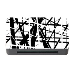 Black And White Abstract Design Memory Card Reader With Cf by Valentinaart