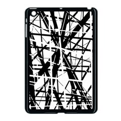 Black And White Abstract Design Apple Ipad Mini Case (black) by Valentinaart