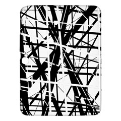 Black And White Abstract Design Samsung Galaxy Tab 3 (10 1 ) P5200 Hardshell Case  by Valentinaart