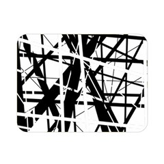Black And White Abstract Design Double Sided Flano Blanket (mini)  by Valentinaart