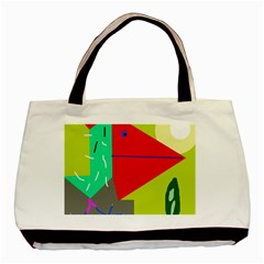 Abstract Bird Basic Tote Bag by Valentinaart