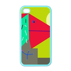 Abstract Bird Apple Iphone 4 Case (color) by Valentinaart