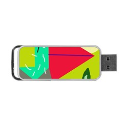 Abstract Bird Portable Usb Flash (one Side) by Valentinaart