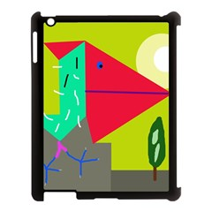 Abstract Bird Apple Ipad 3/4 Case (black) by Valentinaart