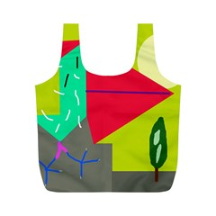Abstract Bird Full Print Recycle Bags (m)  by Valentinaart