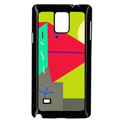 Abstract Bird Samsung Galaxy Note 4 Case (black) by Valentinaart