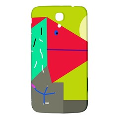 Abstract Bird Samsung Galaxy Mega I9200 Hardshell Back Case by Valentinaart