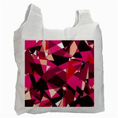 Red Broken Glass Recycle Bag (one Side) by Valentinaart