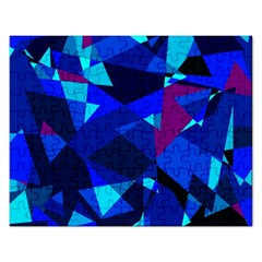 Blue Broken Glass Rectangular Jigsaw Puzzl by Valentinaart