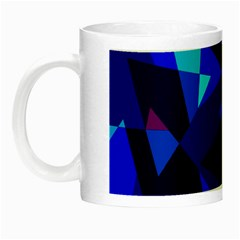 Blue Broken Glass Night Luminous Mugs by Valentinaart
