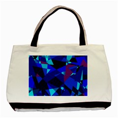 Blue Broken Glass Basic Tote Bag (two Sides) by Valentinaart