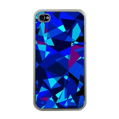 Blue Broken Glass Apple Iphone 4 Case (clear) by Valentinaart