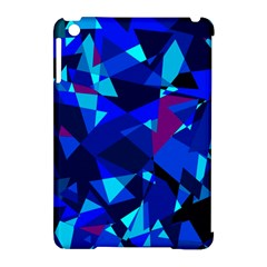 Blue Broken Glass Apple Ipad Mini Hardshell Case (compatible With Smart Cover)