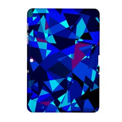 Blue Broken Glass Samsung Galaxy Tab 2 (10 1 ) P5100 Hardshell Case  by Valentinaart