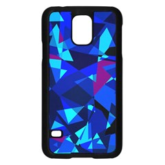Blue Broken Glass Samsung Galaxy S5 Case (black) by Valentinaart