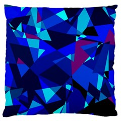 Blue Broken Glass Standard Flano Cushion Case (one Side) by Valentinaart