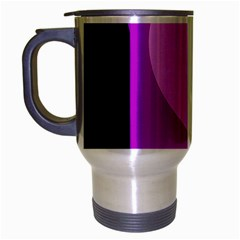 Purple Geometric Design Travel Mug (silver Gray) by Valentinaart