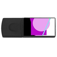 Purple Geometric Design Usb Flash Drive Rectangular (4 Gb)  by Valentinaart