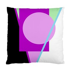 Purple Geometric Design Standard Cushion Case (two Sides) by Valentinaart